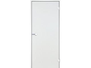 Дверь Harvia с белой алюминиевой коробкой 7х19 ( стекло прозрачное, артикул DA71904V)
