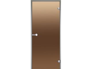 Дверь Harvia с алюминиевой коробкой 9х21 (стекло бронза, артикул  DA92101)