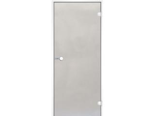 Дверь Harvia с белой алюминиевой коробкой 8х19 (стекло сатин, артикул DA81905V)