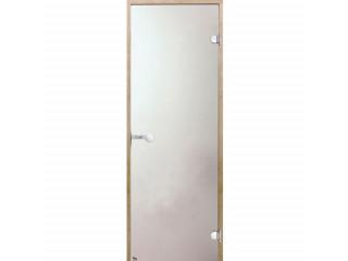 Дверь стеклянная Harvia 8х19 (коробка ольха, стекло сатин, артикул D81905L)